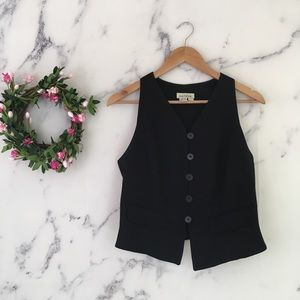 VTG Ann Taylor Cropped Black Vest